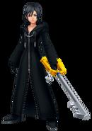 Xion brandisce il suo keyblade
