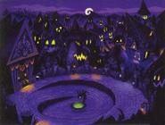 Halloween Town Room (Art)