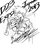 428px-Sora (D23 Expo Japan 2013) Sketch