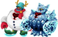 Enorme Pupazzo di Neve e Bestia di Ghiaccio