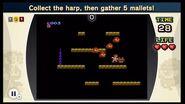 Recoge el arpa y después cinco mazas NES Remix 2