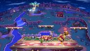 Palutena usando Planeo en Super Smash Bros para Wii U