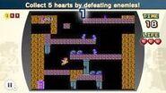 Recoge 5 corazones y vence a los enemigos NES Remix 2