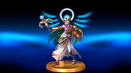 Trofeo de Palutena desfigurada en Super Smash Bros. para Wii U