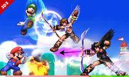 Pit, Pit Sombrio, Mario y Luigi Super Smash Bros. para 3DS