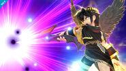 Pit Sombrio usando el Baculo sombrio en Super Smash Bros. para Wii U