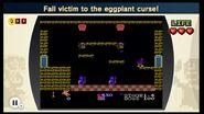 Recibe la maldición de la berenjena NES Remix 2