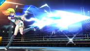 Ambar atacando en Super Smash Bros. para Wii U