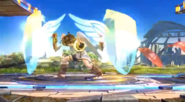 Pit usando Orbitales escudo SSB4 (Wii U)