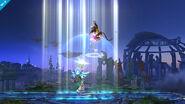 Palutena usando Luz Celestial en Super Smash Bros. para Wii U