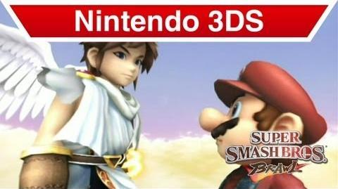 Nintendo 3DS - Kid Icarus Uprising; Pit & Mario in Super Smash Brothers Brawl