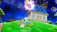 Palutena haciendo Fuego Celestial en Super Smash Bros. para Wii U