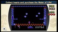 Recoge corazones y compra el agua de la vida NES Remix 2