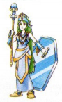 Artwork de Palutena en Kid Icarus