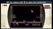 ¡Libera al Icario arquero golpeando la estatua (B)! NES Remix 2