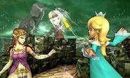 Viridi en el Bosque Génesis en Super Smash Bros para 3DS