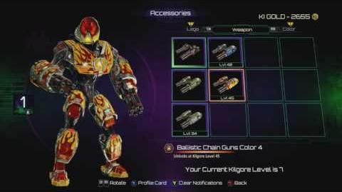 Killer Instinct Kilgore Colours and accessories