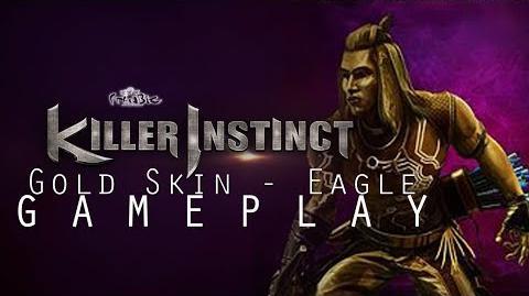 Eagle Gold Skin Gameplay (Killer Instinct)