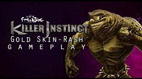 Rash Gold Skin Gameplay (Killer Instinct)