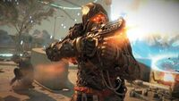 Killzone Shadow Fall Helghast firing his weapon