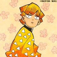 Zenitsu colored profile 10