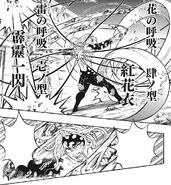 Kanao and Zenitsu attacking Muzan CH190