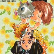 Tanjiro, Zenitsu, and Inosuke colored profile 2