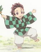 Tanjiro as a child