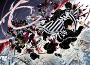 The Demon Slayers save the Hashira from Muzan's attacks
