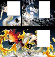 Shinjuro saves Obanai from the Serpent Demon