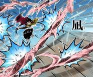 Giyu using Eleventh Form to cancel Muzan's attack