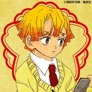 Zenitsu colored profile (Kimetsu Academy)