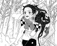 Tanjiro saving his sister