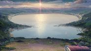 Post-impact Lake Itomori