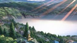 Lake Itomori at sunrise.png