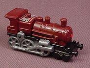 Maroon Train Engine