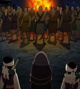 Kyou Kai, Kyou Elder And Kyou Shou Confronts The Group Of Villagers anime S1.PNG