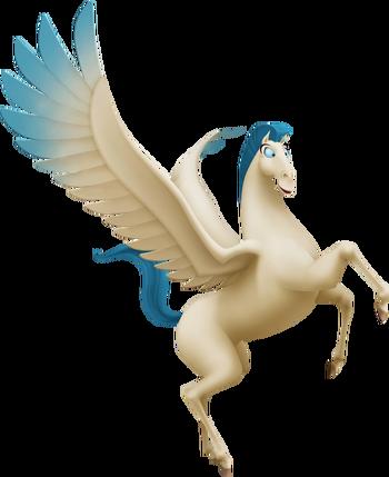 Pegasus das geflügelte Pferd in Kingdom Hearts II