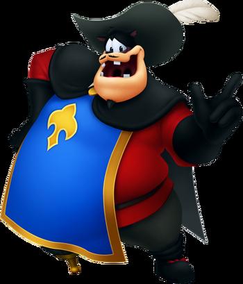Karlo als Capitaine Karlo im Land der Musketiere in Kingdom Hearts 3D: Dream Drop Distance