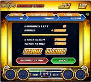 Kingdom Hearts ReCoded Gummiship Studio Level Beendet Bildschirm