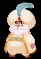 Der Sultan von Agrabah in Kingdom Hearts Union χ
