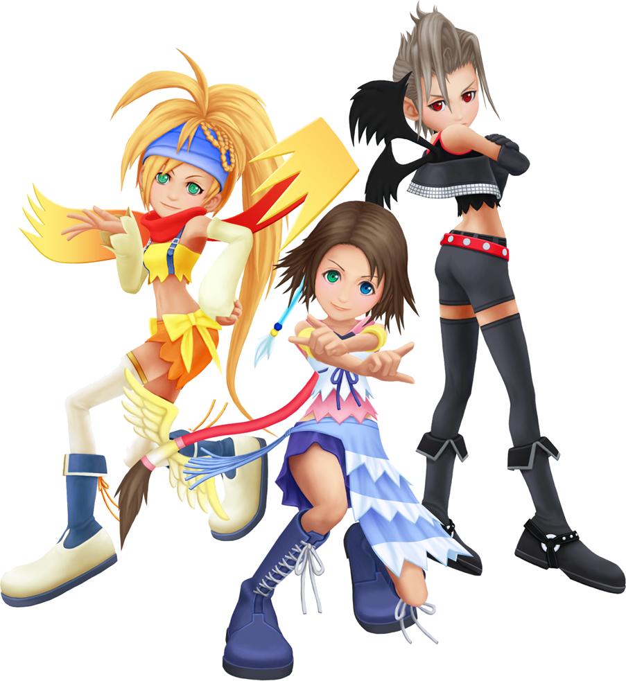 Yuna, Rikku und Paine