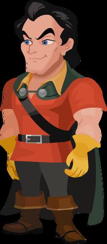 Gaston in Kingdom Hearts χ
