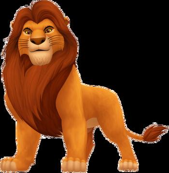Mufasa der Vater von Simba in Kingdom Hearts II