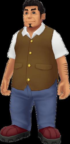 Wallace der Waffenverkäufer in Twilight Town