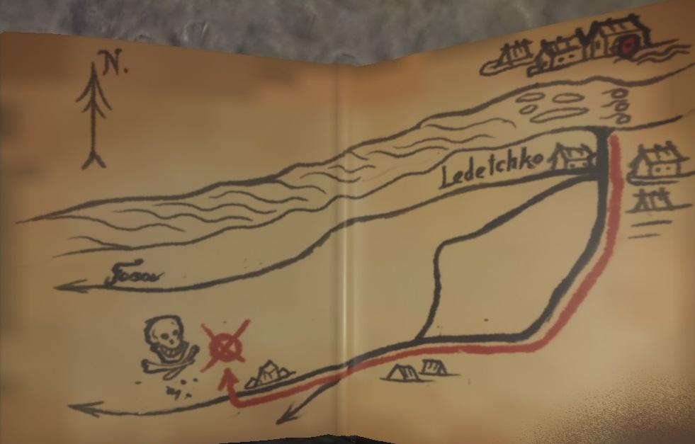 Карта сокровищ X