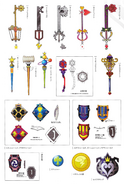 Weapons from KH1 concept art 2