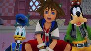 Sora, Donald y Goofy (KHRec) en KHHD1.5+2.5