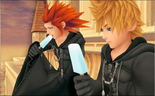 Axel and Roxas eating ice cream.png