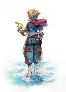 KHIII Sora Sketch Colored